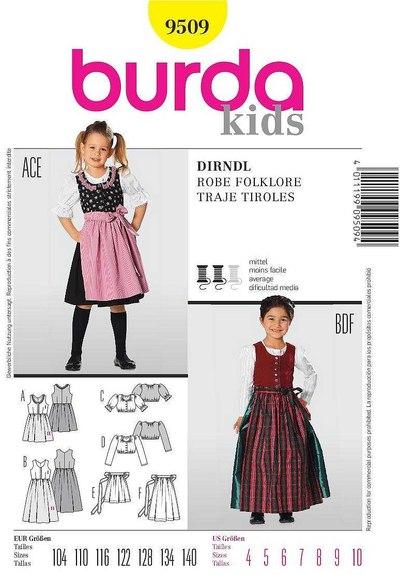 Dirndl, gammeldags kjole