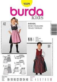 Dirndl, gammeldags kjole. Burda 9509.