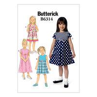 Plisseret-nederdel kjoler. Butterick 6314.