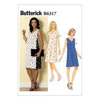 Pullover v-halsudskæring kjoler. Butterick 6317.