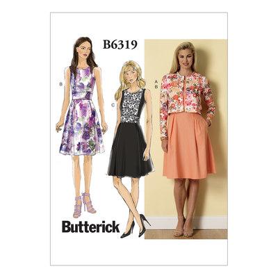 Cardigan og plisseret-nederdel kjole