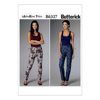 Tilspidsende bukser. Butterick 6327.