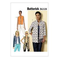 Åben-front jakker. Butterick 6328.