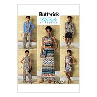 Jakke, elastisk-talje kjole, romper og jumpsuit. Butterick 6330.