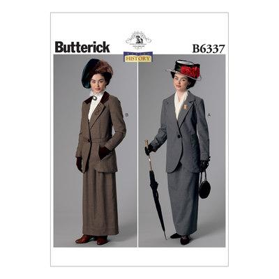 Hak-krave jakker og gulv-længde nederdele