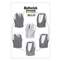 Veste i klassisk design. Butterick 6339.