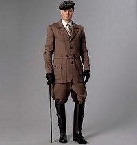 Jakke, historiske bukser. Butterick 6340.