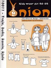 Trøje, buks, kanin, kjole. Onion 10011.
