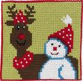 Permin 9241. Rensdyr og snemand, børnestramaj.
