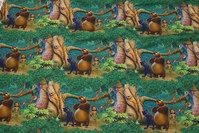 Bomuldsjersey med figurerne fra Junglebogen