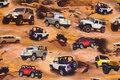 Bomuldsjersey med Jeeps i sand.