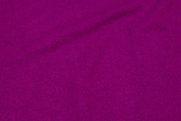 Fuchsia-farvet bouclé i uld og viscose