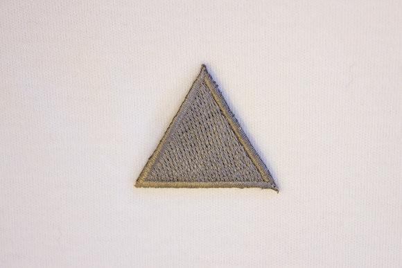 Grå trekant strygemærke 3cm