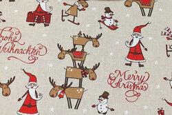 Hørlook med julemænd og rensdyr
