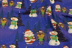 Lavendelblå julejersey med snemænd og julemænd