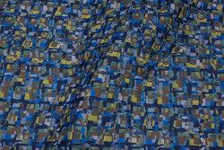 Let imprægneret quilt i lime og marine med marine bagside