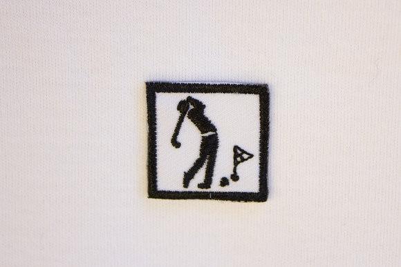 Lille golf mærke 2,5x2,5cm