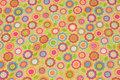 Lysegrøn bomuldsflonel med pink mønster.