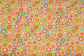 Lysegrøn bomuldsflonel med pink mønster