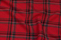 Mellemsvær kjolecrepe med ca. 10 cm tern