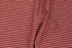 Mellemsvær, vinterrød hør og bomuld med ca. 5 mm striber på langs