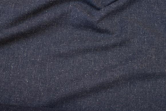 Møbelstof i meleret gråblå