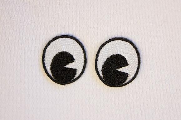 Øjne strygemærker 2,5 x 2 cm
