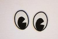 Øjne strygemærker stor 3 x 2 cm
