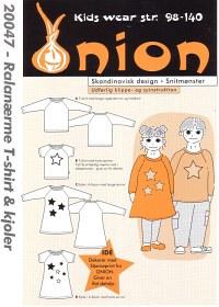 Raglanærme T-shirt og kjoler. Onion 20047.