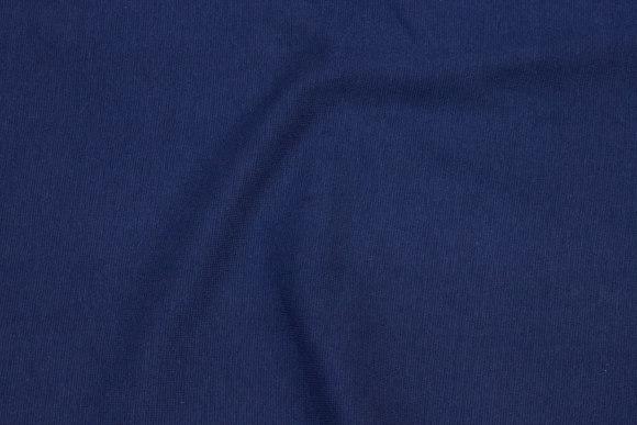 Rib-stof i marineblå