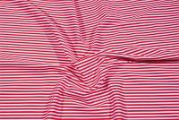 Rød-hvid kadetstribet bomuldstwill