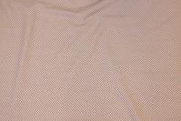 Sandfarvet patchwork-bomuld med rød miniprik