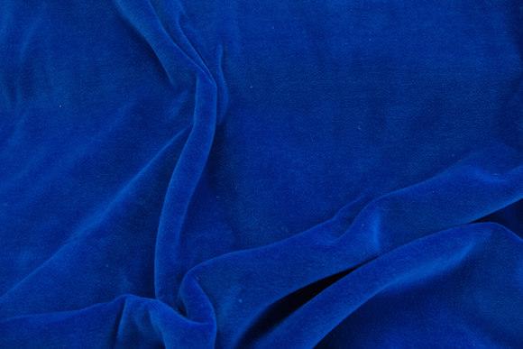 Stræk velour - kongeblå