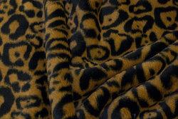 Superblød jaguar-pelsstof i mørke farver