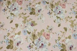 Sart rosa deko-stof med roser