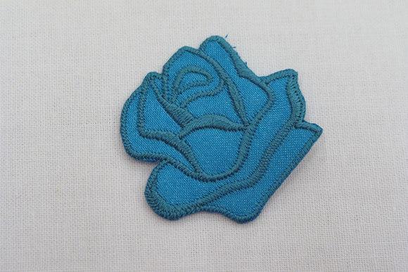 Turkis rose strygemærke ø 3,5 cm