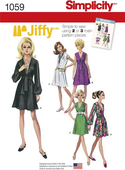Jiffy kjoler med taljebinding