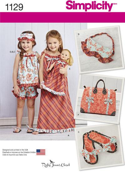 Børnetilbehør, taske, tøfler, pandebånd
