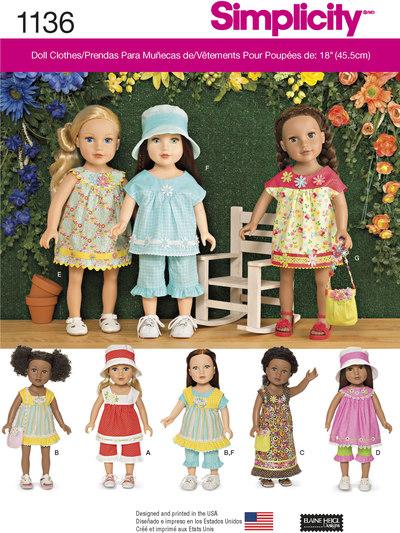 Dagligdagstøj til 45 cm dukke