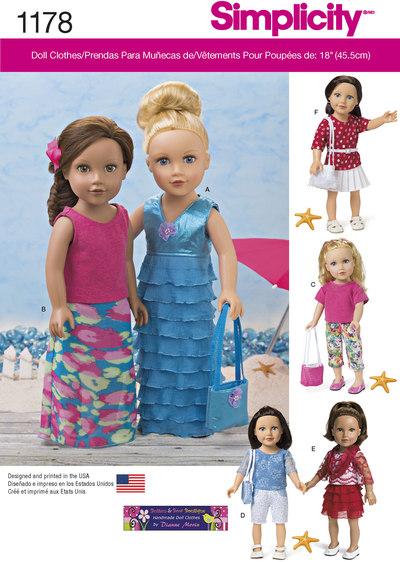 Moderne tøj til 45 cm dukke