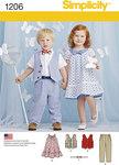 Småbørns vest, butterfly, kjole, bukser