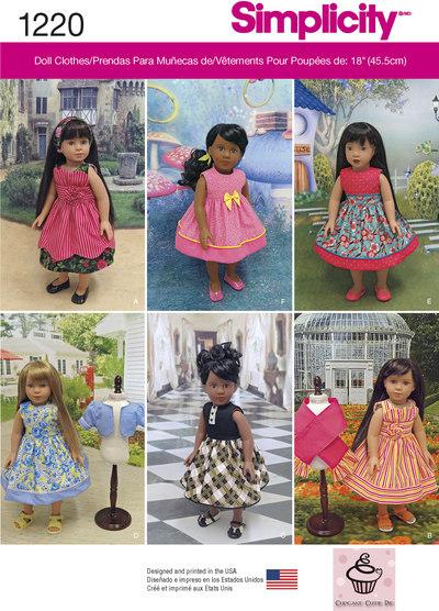 Flotte kjoler til 45 cm dukke