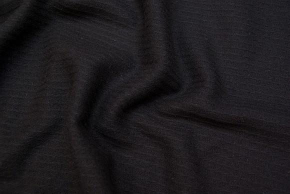 Diagonalvævet sort 100% uld