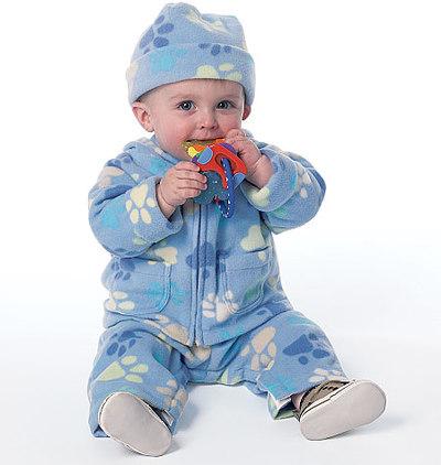 Småbørns jakke, overalls, bukser, hat