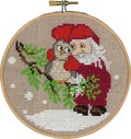 Permin 13-6242. Julemand og ugle, julevægbroderi.