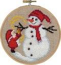 Permin 13-6244. Julemanden og snemand, julevægbroderi.