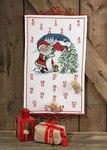 Permin 34-6226. Julepakkekalender med Julemand, lade og træ.