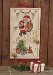 Permin 34-6228. Julepakkekalender med julemanden på trapper.