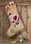 Permin 41-6206. Julesok med Julemanden og en kanin.
