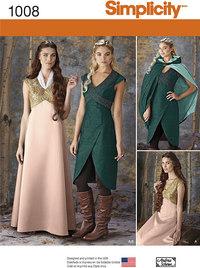 Fantasy kjoler. Simplicity 1008.